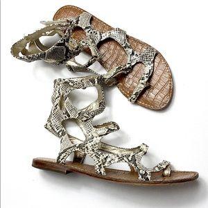 Sam Edelman snakeskin cage sandals